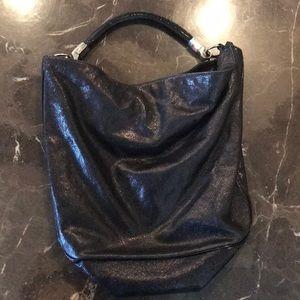 YSL Low D Patent Leather Shoulder Bag